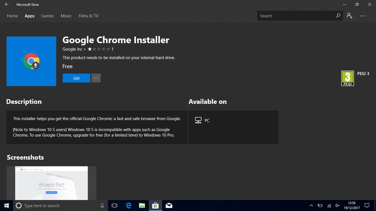 Google Chrome Installer App