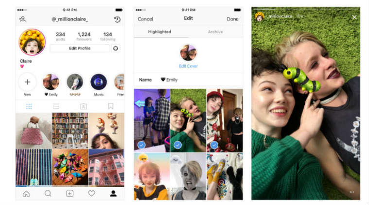 Instagram Launches Stories Archive And Stories Highlights Tools