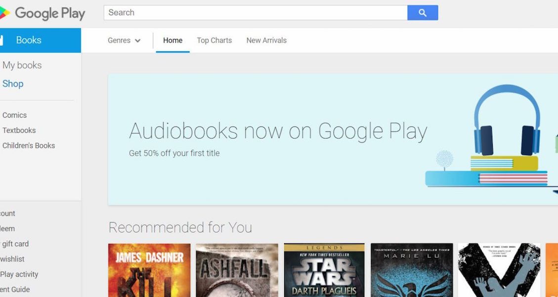 Google Audiobooks Arrive At To Play Store